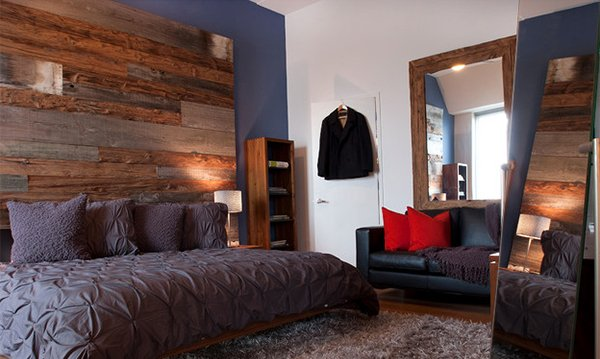 Philadelphia Penthouse Wood Bed Panel Apartment
