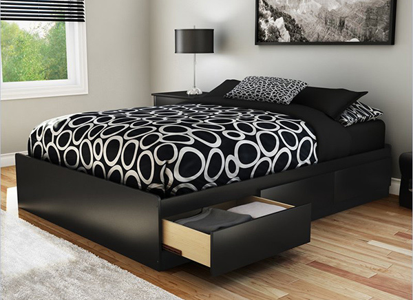 beautiful black bed