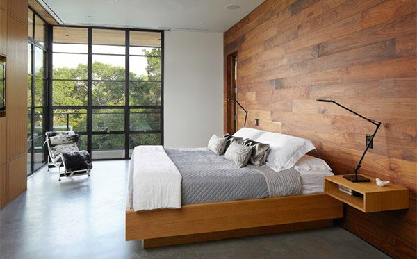 Bedrooms With Wooden Panel Walls Home Design Lover - Bedroom panelling designs