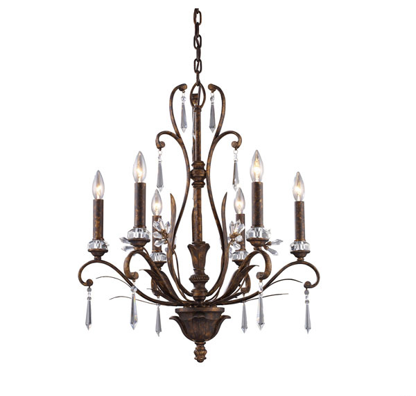 6-Light Emilion Chandelier