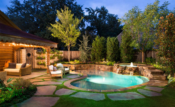 Perfect Backyard Designs With Pool. Pool Spa Backyard Designs With E