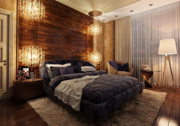 20 bedrooms with wooden panel walls home design lover Curtains for wood paneled room