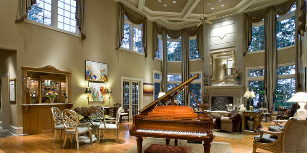 How To Decorate An Interior With High Ceilings Home