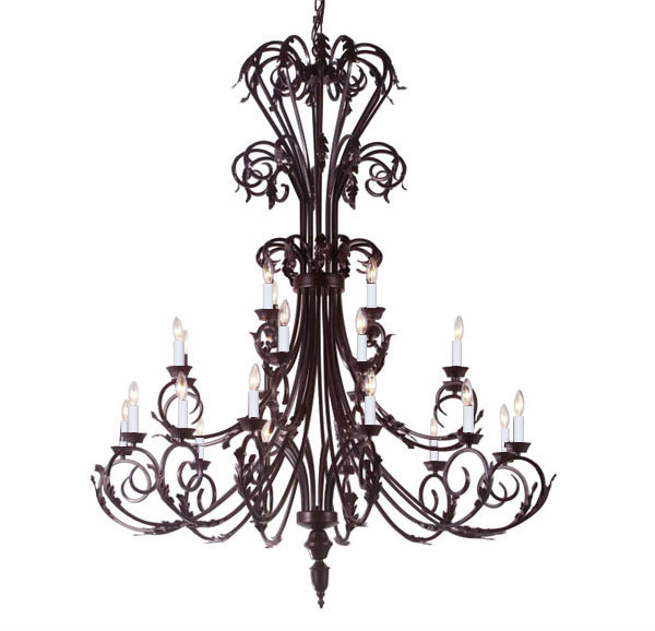 A84-724/24 Wrought Iron Chandelier