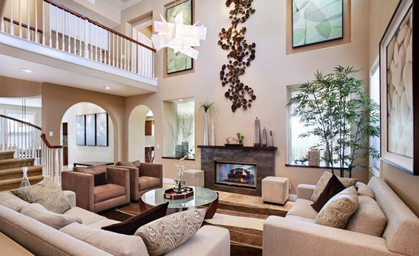 15 interiors with high ceilings home design lover for Living room ideas high ceilings
