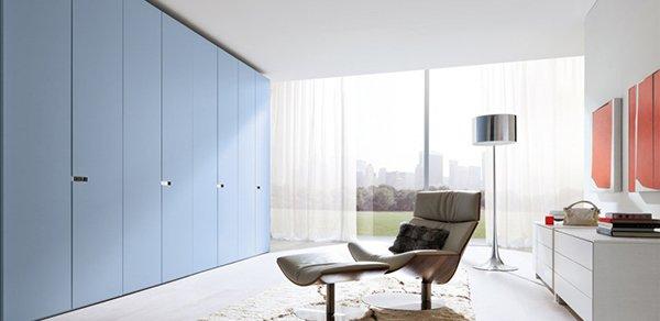 melamine blue wardrobe