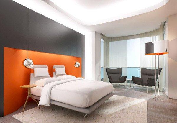 Icon Residence orange bedroom