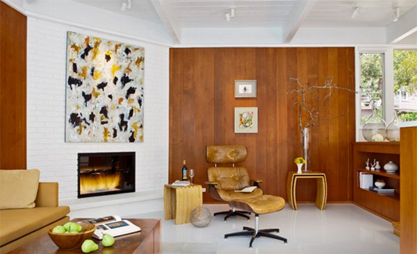 Wooden panel walls in 15 living room designs home design - Wood paneling ideas modern ...