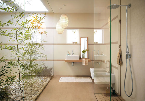 zen powder room