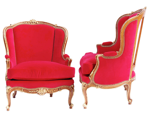 red chair furniture