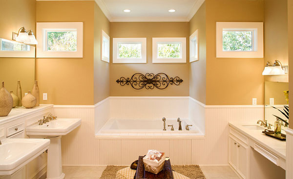 yellow bath design
