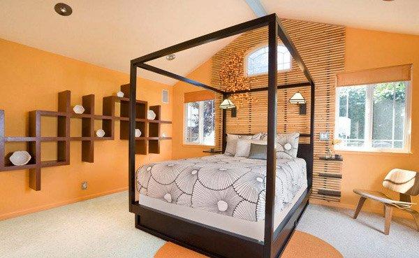 Mountain View Master orange Bedroom