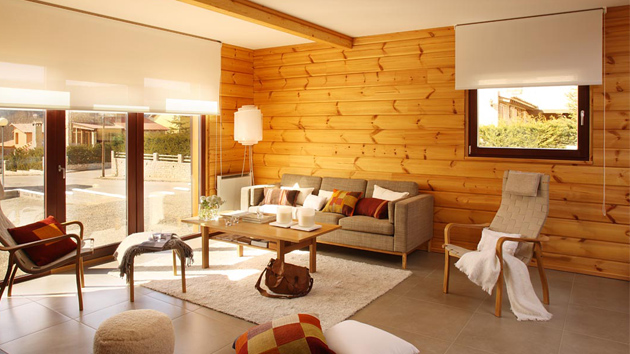 Wooden Panel Walls in 15 Living Room Designs | Home Design ...
