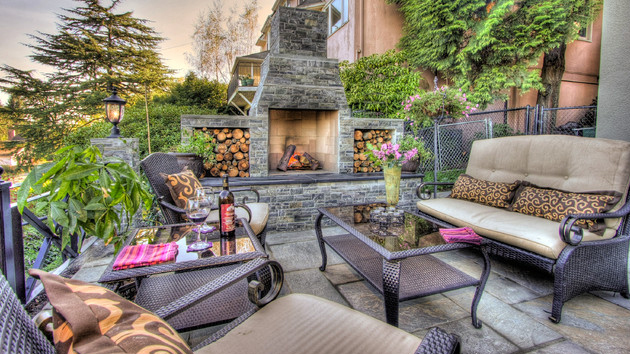 Outside Stone Fireplace Ideas: 15 Outdoor Stone Fireplaces To Love