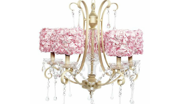 x photo nursery pink lights chandelier crystal of girls lovely room for