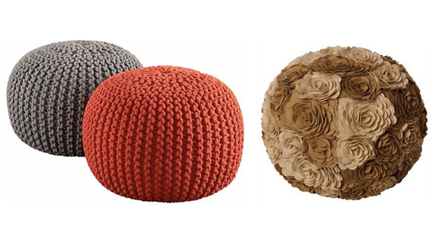 15 Cute Round Pouf Seats Home Design Lover