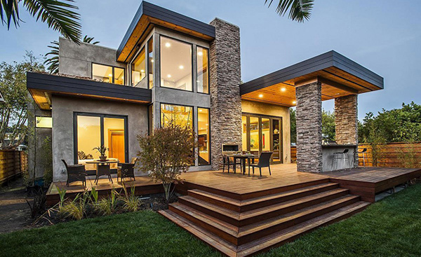 The Rustic Modern Design Of Burlingame Residence In California