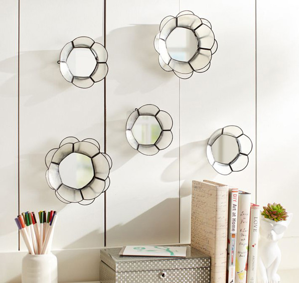 Capiz Wire Mini Mirrors