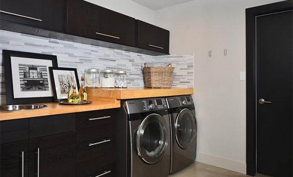 black laundry area