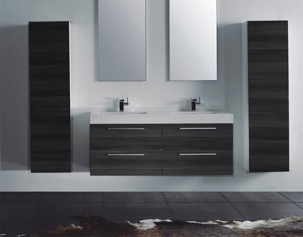 15 modern double sink bathroom vanity sets home design lover for Contemporary bathroom sinks and vanities
