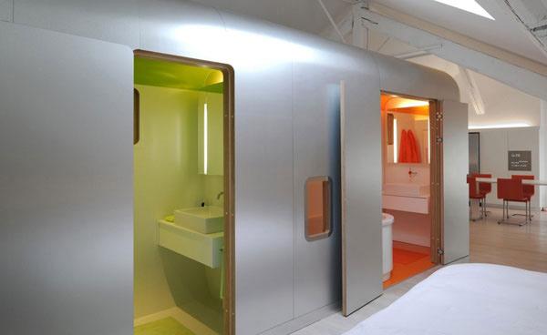 green toilet room