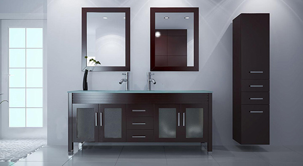 brown vanity set