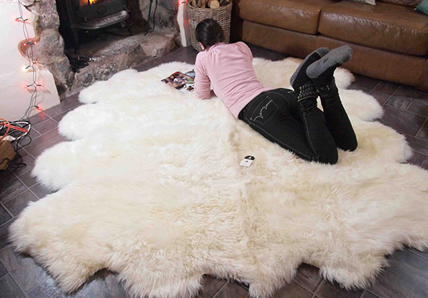 Very Large Octo Sheepskin Rug