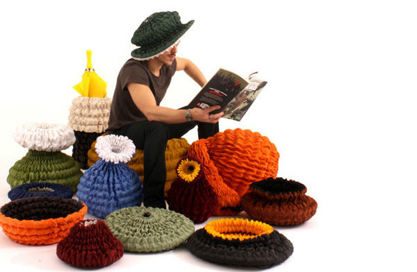 unique pouf designs