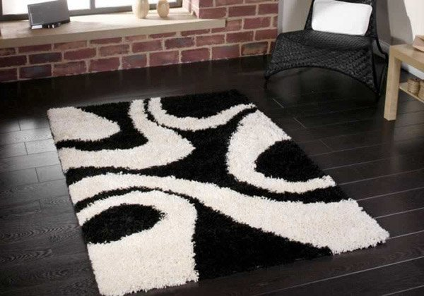 Vista Black/White Rug