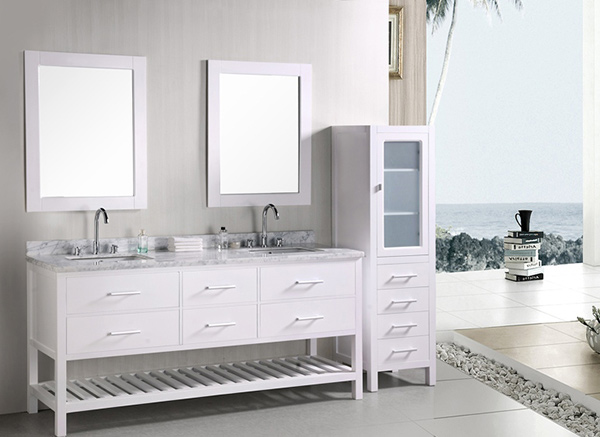 Adorna 72 Inch Transitional Double Sink Bathroom Vanity Set throughout  dimensions 1181 X 787