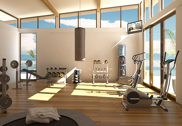10+ Cool Architectural House Designs. Glass Gym
