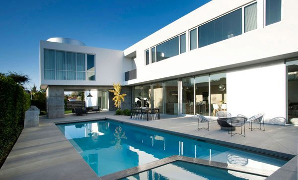 geometric pool - Pool House Designs Ideas