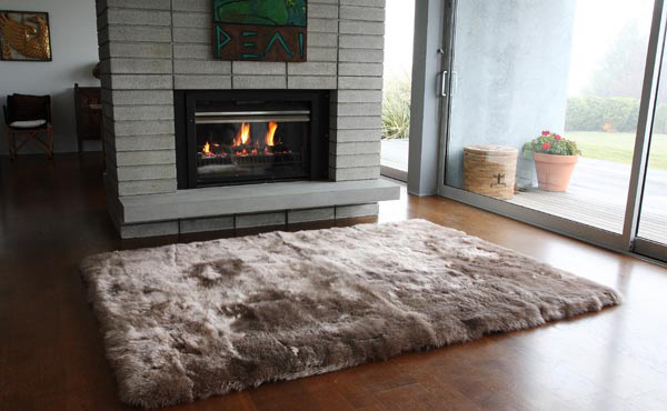 Longwool Straight Edge Sheepskin Rug