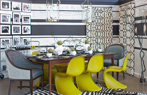 Striped Wall Accents In 15 Dining Room Designs Home Design Lover