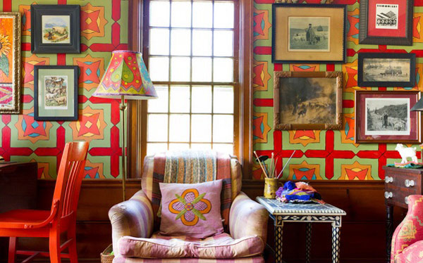 An Antique Cape Cod House Explodes With Color