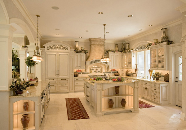 20 astounding dream kitchen designs home design lover for Period kitchen design