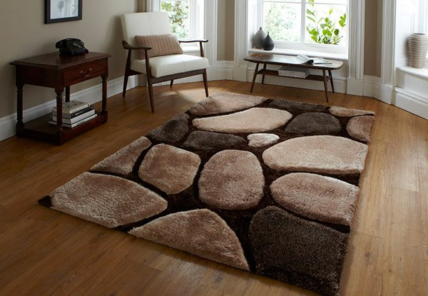 Noble House Brown Pebble Rug