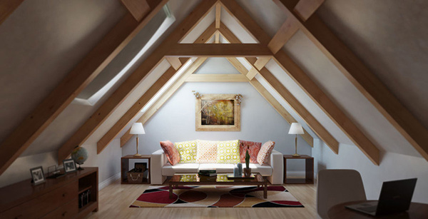 15 Well-Designed Living Spaces in the Attic | Home Design