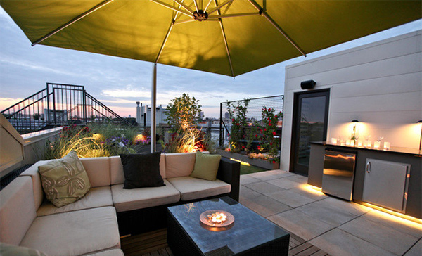 Outdoor spaces with parasols home design lover