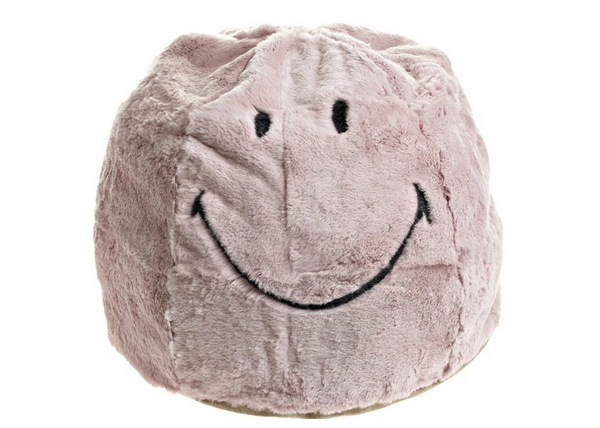 smiley pouf