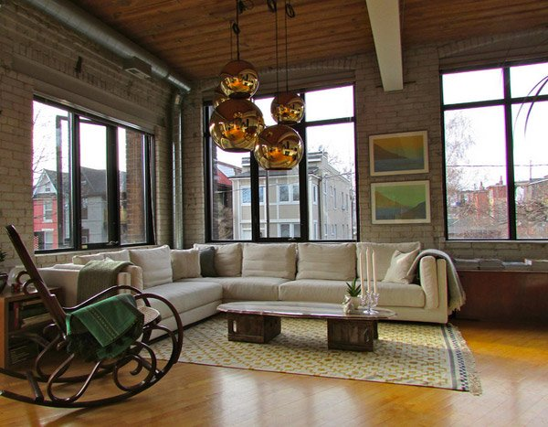 15 industrial living room designs that will leave you in for Industrial living room ideas