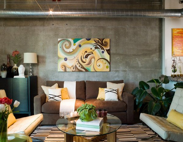 industrial living rooms