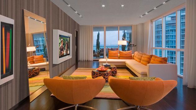 15 Striped Walls Living Room Designs Home Design Lover