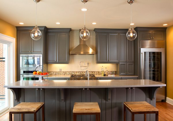 Warm And Grey Kitchen Cabinets Home Design Lover - Warm gray cabinets