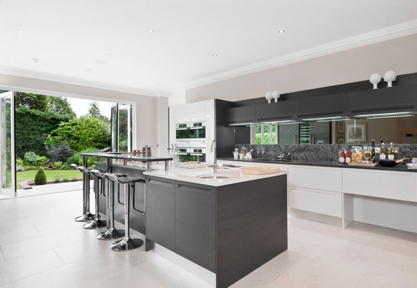 15 lovely open kitchen designs home design lover for Kitchen ideas uk 2015