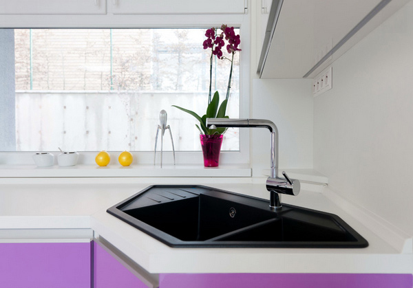 Charming Corner Kitchen Sink Designs
