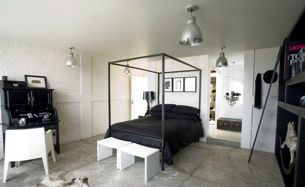 15 industrial bedroom designs home design lover for Bedroom ideas industrial