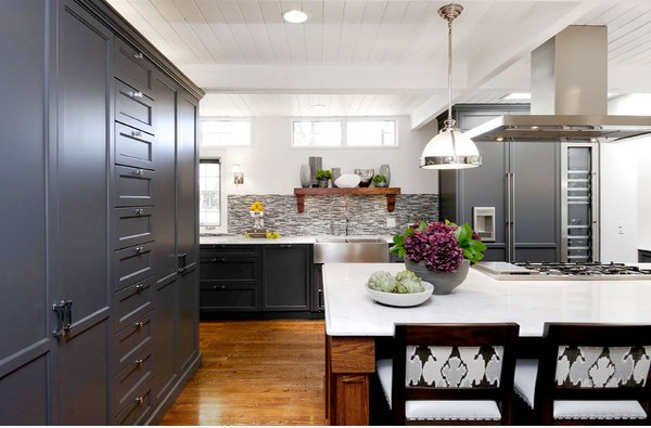 15 Warm and Grey Kitchen Cabinets | Home Design Lover