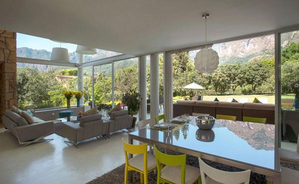 living room glass wall