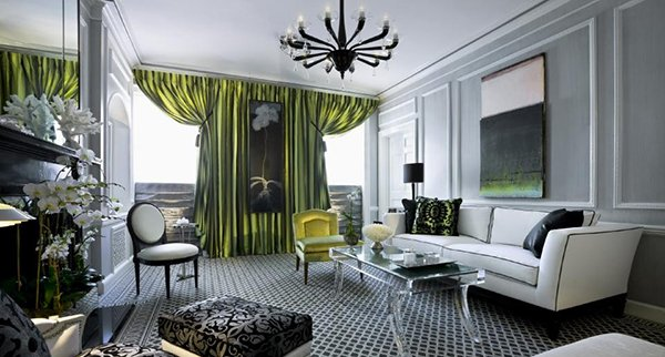 15 art deco inspired living room designs home design lover. Black Bedroom Furniture Sets. Home Design Ideas